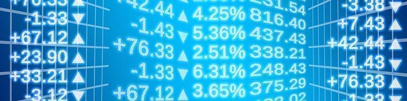 Figures and trends in the stock market