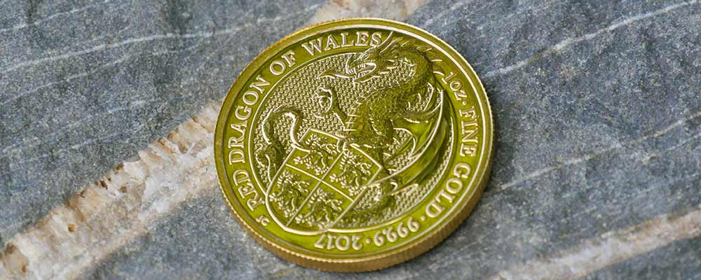 1oz Gold Queen's Beasts 2017 Dragon Coin