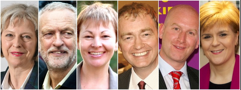 UK's General Election Candidates from major political parties