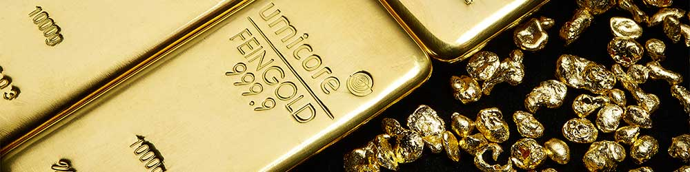 Umicore gold available as investment bullion