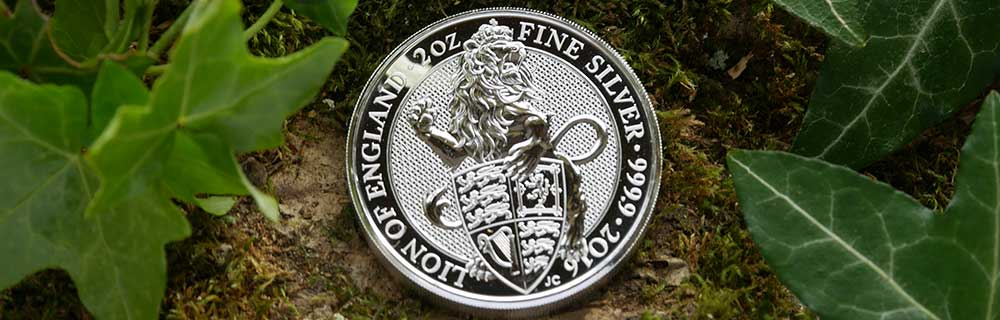 2oz Queen's Beast Lion 2016 Coin