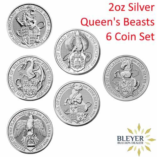 2oz Silver Queen's Beasts Coin Set