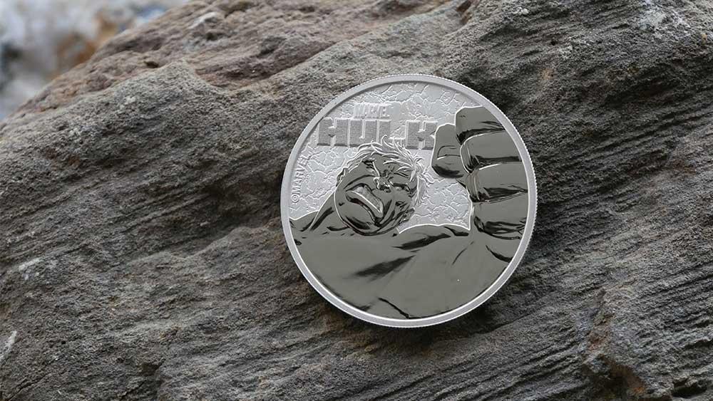 1oz Silver Tuvalu Marvel Hulk Coin, 2019