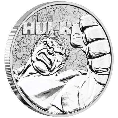 1oz Silver Tuvalu Marvel Hulk 2019 Bullion Investment Coin available at Bleyer