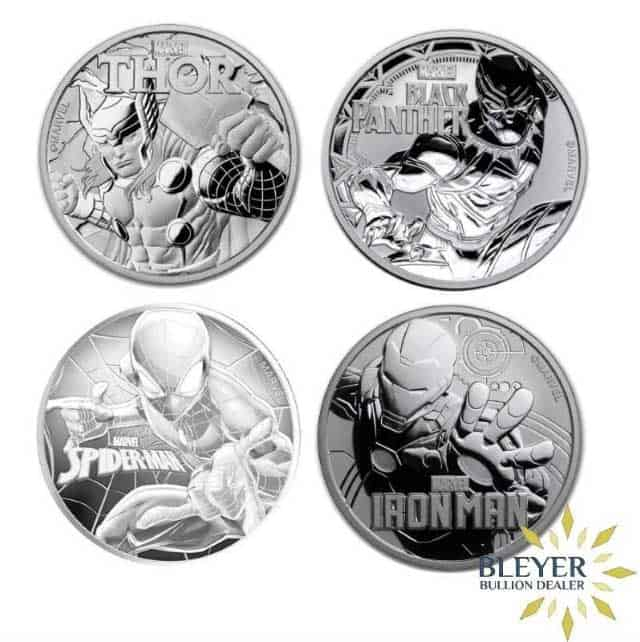 1oz Silver Tuvalu Marvel Coin Set