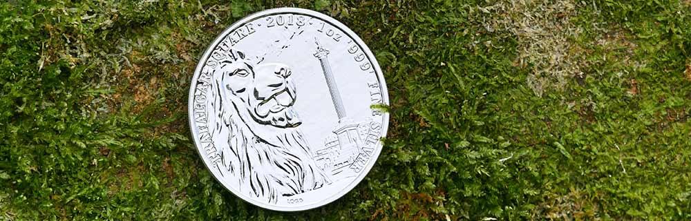 1oz Silver Landmarks of Britain, Trafalgar Square, 2018 UK