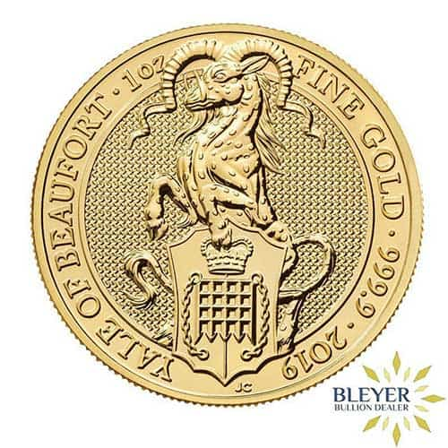 1oz Gold Queen's Beasts Yale Front Design