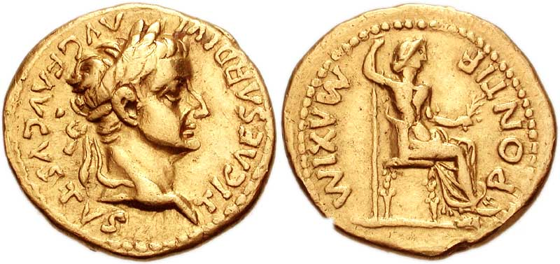 Gold Roman bullion coins as currency