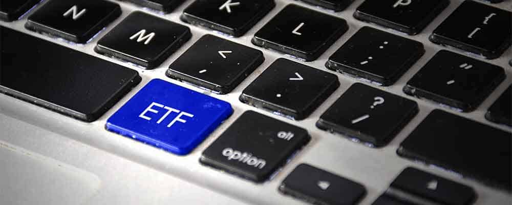A keyboard with an ETF shortcut