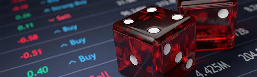 Stock Market rising and falling gambles