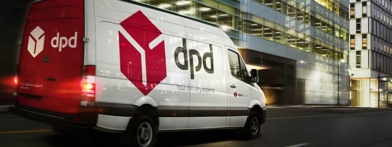 DPD van speeding to make a delivery
