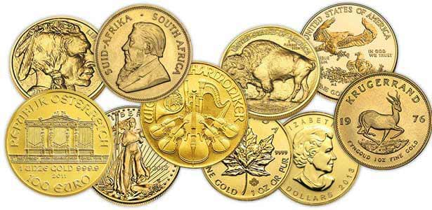1oz Gold Bullion coins available at Bleyer