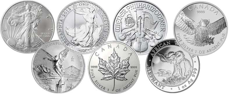 1oz Silver Bullion coins available at Bleyer