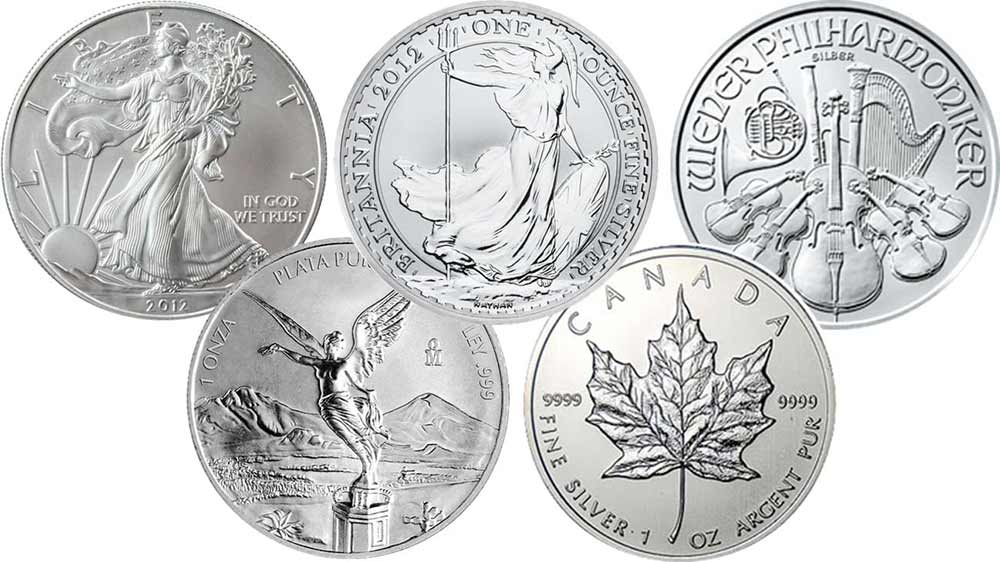 Assorted Silver Coins from Bleyer