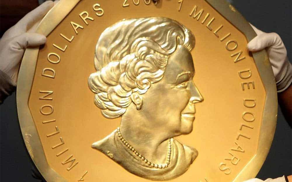 Solid gold coin worth 4 million dollars stolen from Berlin museum