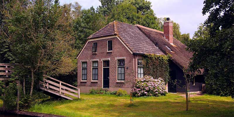 Property in the countryside by a river