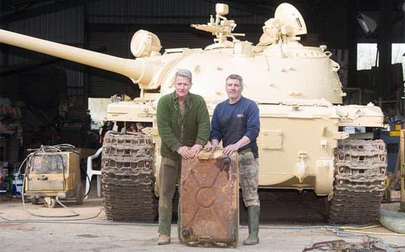 Man buys tank for £30,000 and finds £2,000,000 of gold inside