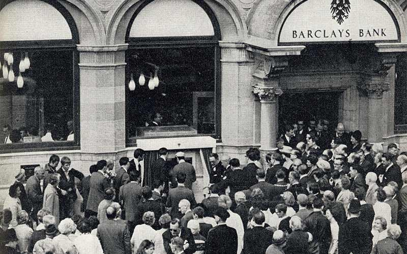 Official opening of first ATM in 1967