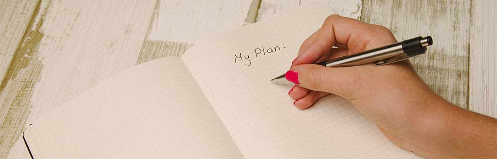 Writing down your plan is important
