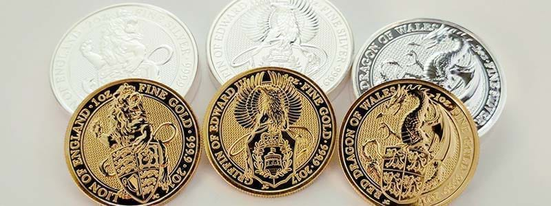 The Royal Mint's Queen's Beast 1oz Silver and Gold Bullion Coins