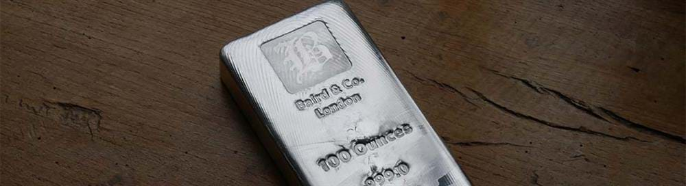 100oz Silver Baird & Co Bullion Bar