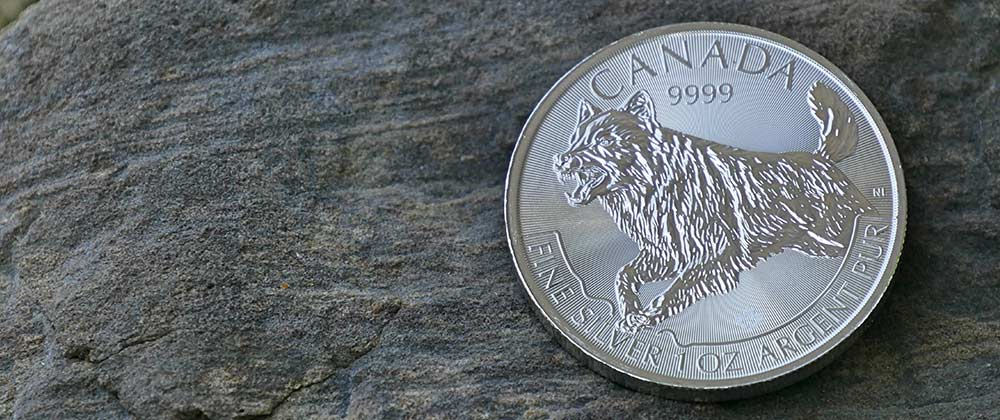 Limited edition one troy ounce Silver Wolf Coins are produced by The Royal Canadian Mint.