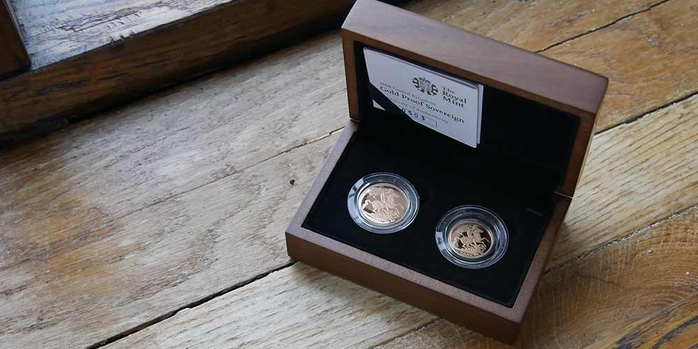 2008 UK Gold Proof Sovereign Two Coin Collection sold at Bleyer