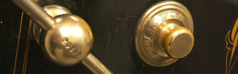 Home safe with a number combination lock