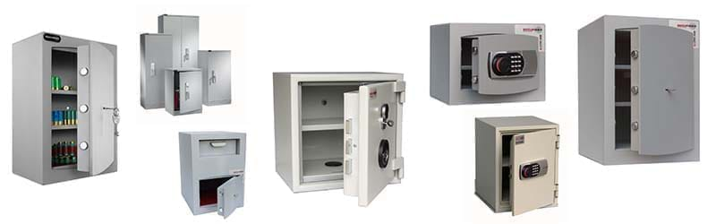 Assorted home safes from Securikey