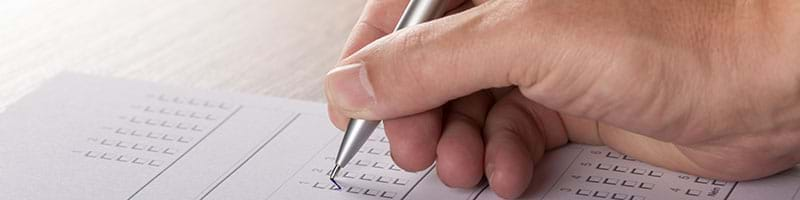 Filling out forms by hand