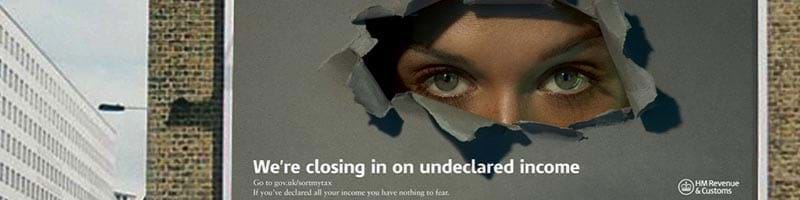 HMRC Poster for Income Declaration