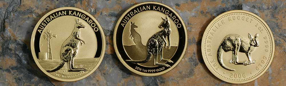 One ounce Gold Kangaroo Coins were produced by The Perth Mint in Australia.