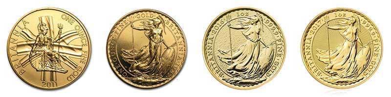 All 1oz Gold 1oz Britannia bullion coins available at Bleyer