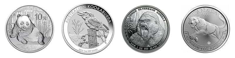 All 1oz Silver animal bullion coins available at Bleyer
