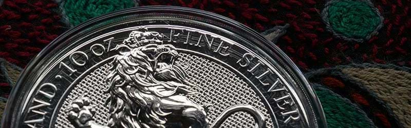 The Royal Mint's 10oz Queen's Beast Lion Silver Coin