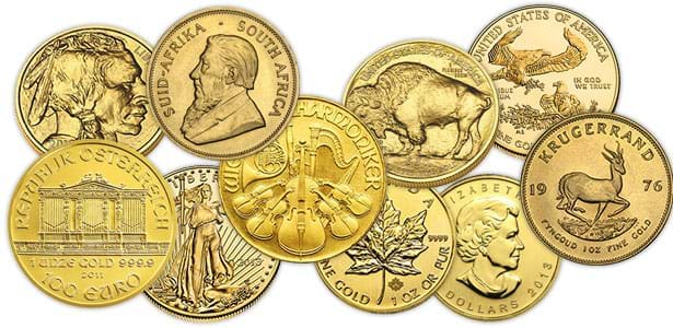 Gold Bullion Coins available at Bleyer