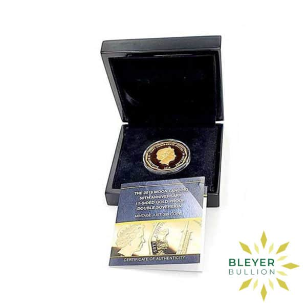 Bleyers Coin UK Gold The 2019 Moon Landing 50th Anniversary Double Proof Sovereign Back