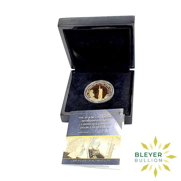 Bleyers Coin UK Gold The 2019 Moon Landing 50th Anniversary Double Proof Sovereign Front