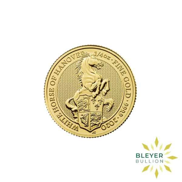Bleyers Coins 1 4oz Gold UK Queens Beasts Horse 2020 1