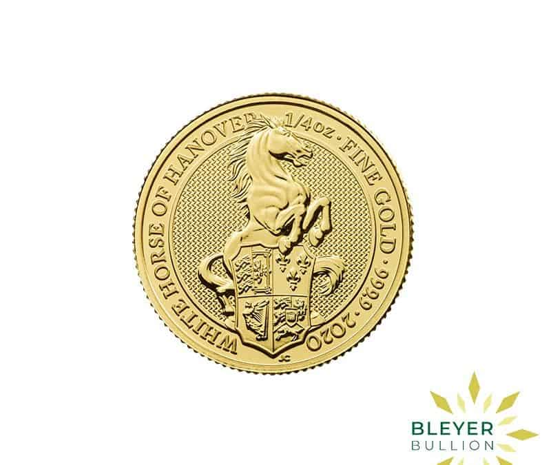 1/4oz Gold UK Queen's Beasts White Horse of Hanover Coin, 2020