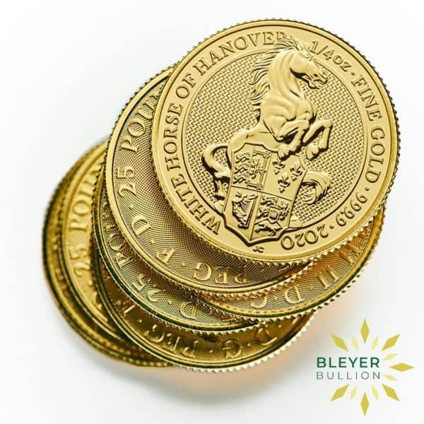 Bleyers Coins 1 4oz Gold UK Queens Beasts Horse 2020 5
