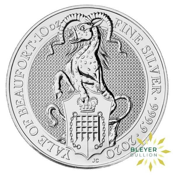 Bleyers Coins 10oz Silver UK Queens Beasts The Yale of Beaufort 2020 3
