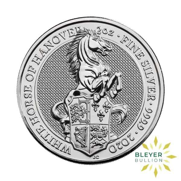 Bleyers Coins 2oz Silver UK Queens Beast The White Horse of Hanover Coin 2020 1