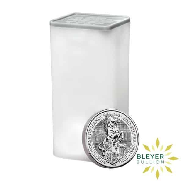Bleyers Coins 2oz Silver UK Queens Beast The White Horse of Hanover Coin 2020 3
