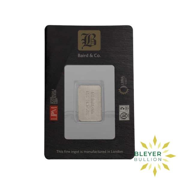 Bleyers Bar 1 10oz Baird Co Minted Rhodium Bar3 1