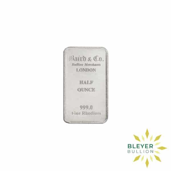 Bleyers Bar 1 2oz Baird Co Minted Rhodium Bar4