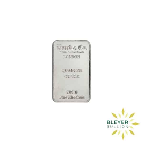 Bleyers Bar 1 4oz Baird Co Minted Rhodium Bar2