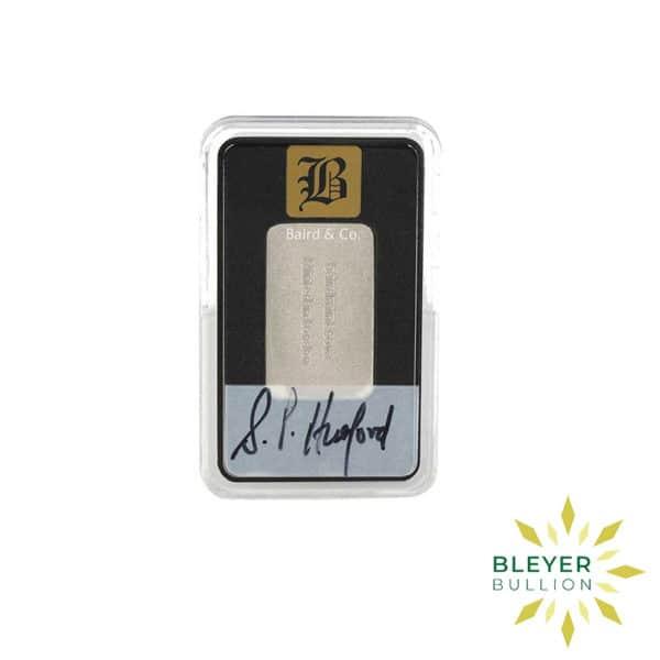 Bleyers Bar 1 4oz Baird Co Minted Rhodium Bar3