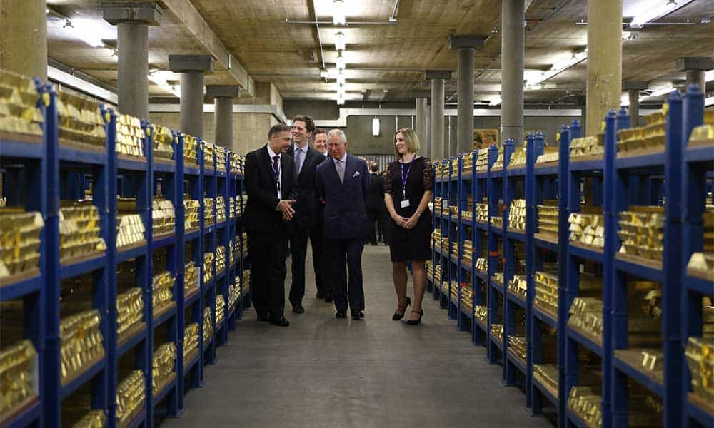 Inside The Bank Of Englands Gold Vaults Visiting Gold Vaults