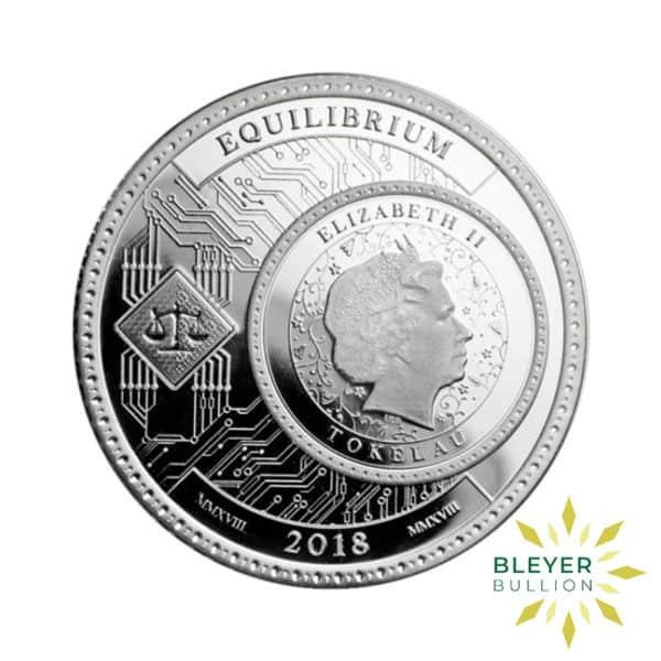 Bleyers Coin 1oz Silver Tokelau Equilibrium Coin 2018 2
